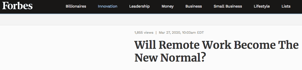 the new normal Forbes